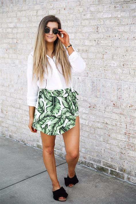 Summer S M Top Skort 31334 palm leaf skort to celebrate summer ootd daily dose of charm