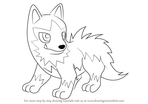 pokemon coloring pages poochyena step by step how to draw poochyena from pokemon