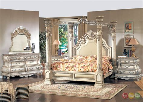 victorian inspired traditional poster canopy bedroom set