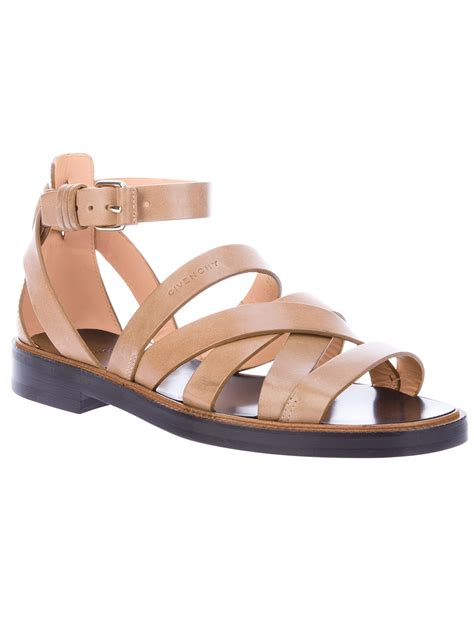 givenchy mens sandals lyst givenchy gladiator sandal in brown for