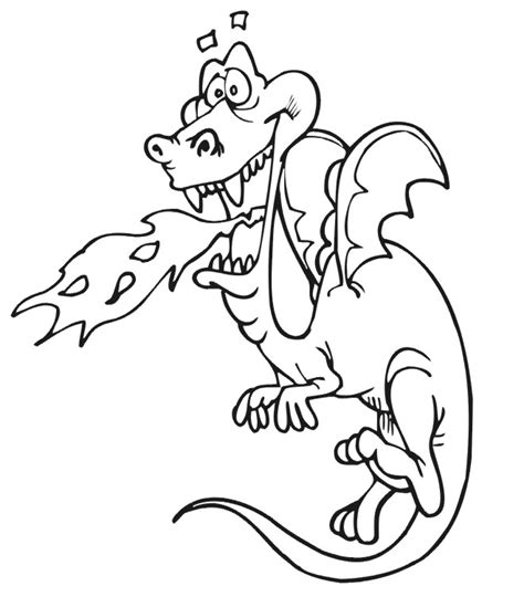 fire breathing dragon coloring pages coloring pages