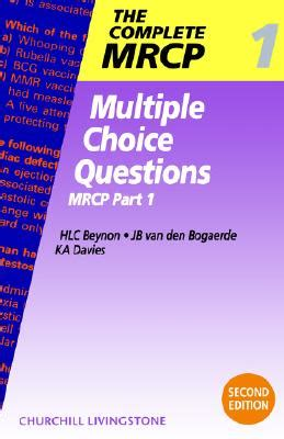 multiple choice questions: mrcp part 1 book by huw beynon