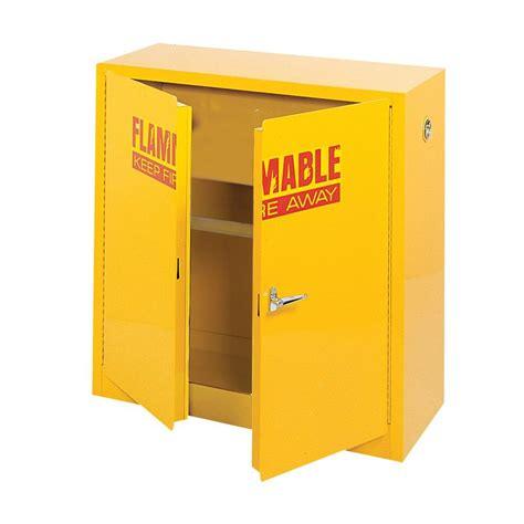 Yellow Flammable Storage Cabinet Sandusky 44 In H X 43 In W X 18 In D Steel Freestanding Flammable Liquid Safety Door