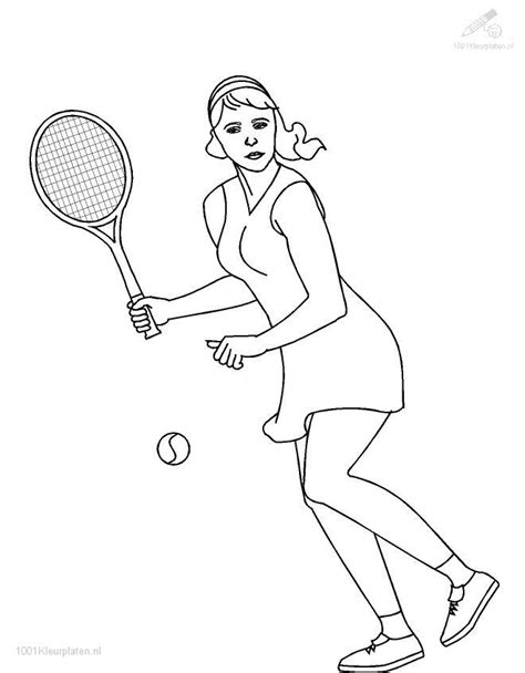 Tennis Coloring Page Tennis Coloring Pages