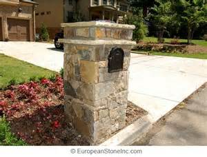 Solar Yard Lamp Post Lighting by End Of Driveway Stone Light Post With Mailbox Car Park
