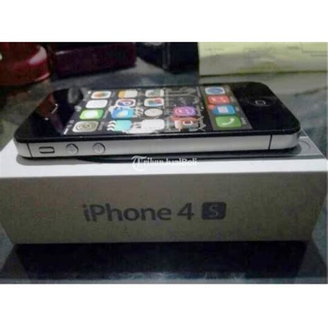 Iphone 4 Hitam Murah by Iphone 4s 16 Gb Warna Hitam Ios 7 Fullset Murah Abis