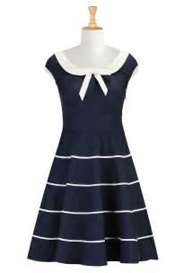 nautical attire pan collar dresses striped nautical dresses shop womens fashion design designer fashion