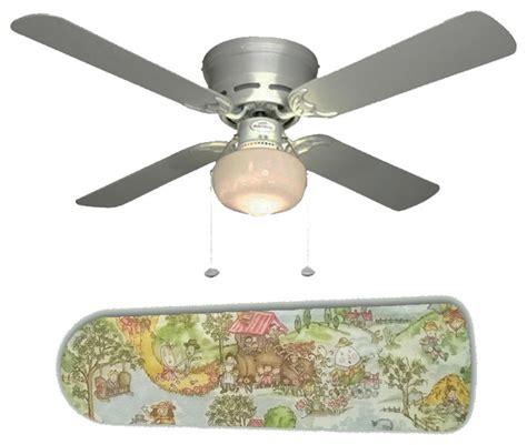 Nursery Ceiling Fan by Nursery Rhyme Multicolor Toile 42 Quot Ceiling Fan And L