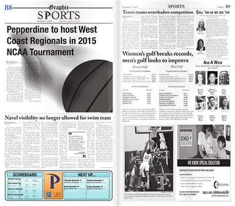 sports section newspaper layout sports section on behance