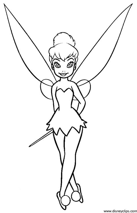 tinkerbell and peter pan coloring pages coloring home