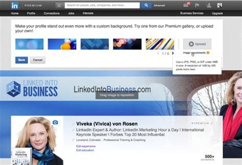 How To Use The New Linkedin Header Image For Profiles Social Media Examiner Linkedin Banner Template