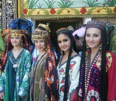 uzbek women selling traditional wedding skullcaps and dresses sunday uzbek national women s dresses central asia traditional
