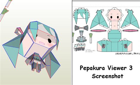 Papercraft Viewer - chibi miku pepakura by maji kae on deviantart