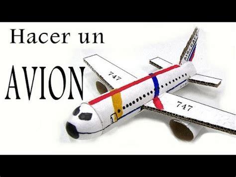 como hacer un avion de material reciclable reciclaje como hacer un avion youtube