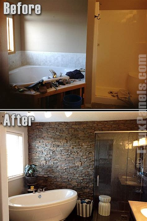 stone bathroom wall panels bathrooms on a budget featured remodels creative faux