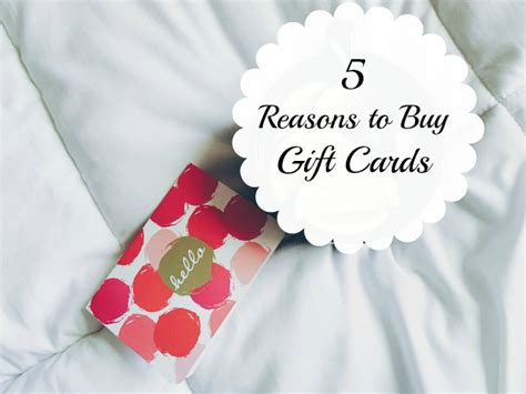 Order Gift Card - top 5 reasons to buy gift cards