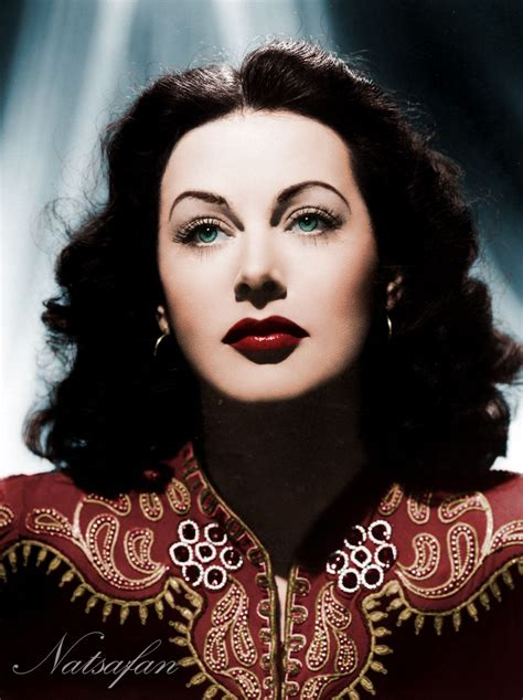 actresses of color hedy lamarr 1940s colored photo by natsafan on
