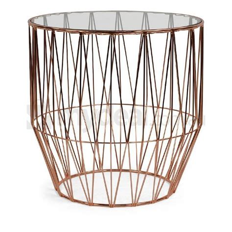 Wire Side Table Soho Copper Wire Side Table With Glass Top Buy Living Room Furniture