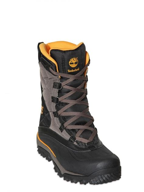 timberland snow boots mens lyst timberland tecnico snow boots in black for