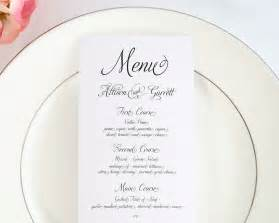 fairytale script wedding menus wedding menus by shine