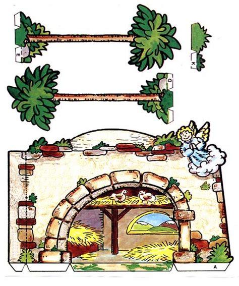 printable christmas belen portal de belen para recortar asdf navidad and craft