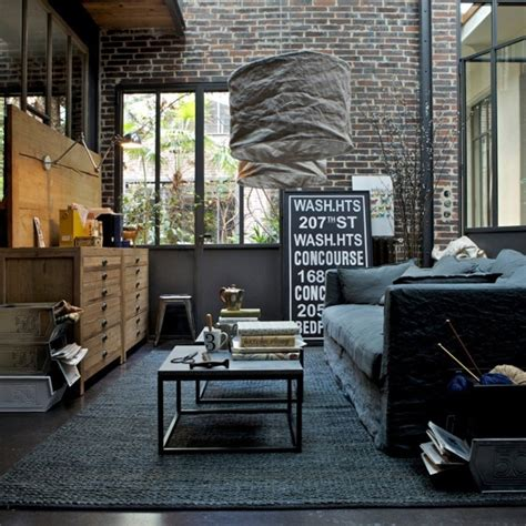 cool home interiors cool industrial living room ideas