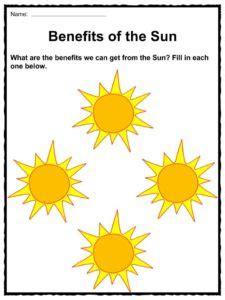 sun and energy worksheets for kindergarten sun best free