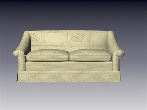 3d Seat Cushion Volcanic Glass fabric loveseat 3d model 3d studio 3ds max files free