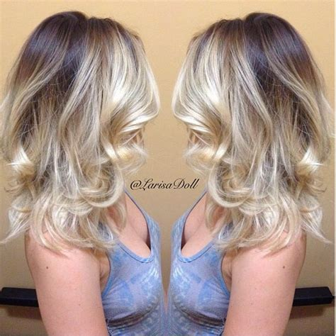highlighting brown hair with gray roots dark brown base with light beige blonde ombr 233 with