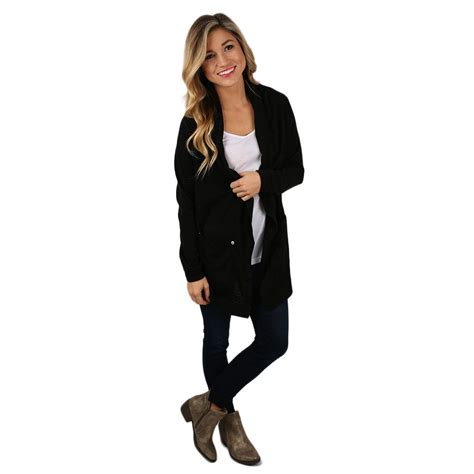keeping it chic cardi black impressions boutique