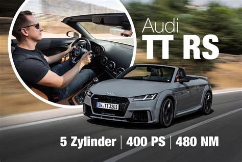 Erster Audi by Audi Tt Rs 2016 Erster Test Gewicht Motor Audi News