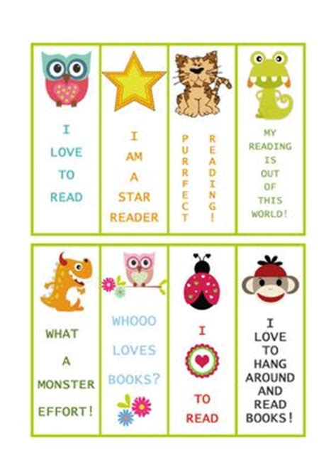 printable educational bookmarks free printable bookmarks print some out on card stock