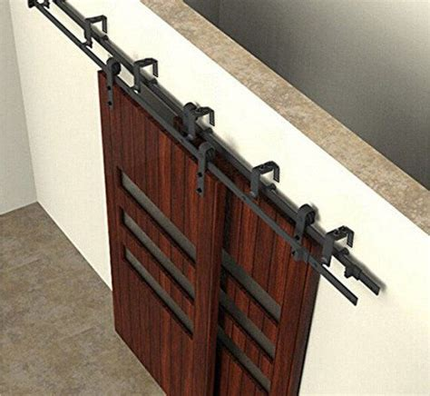 Bypass Barn Door Track Best 25 Bypass Barn Door Hardware Ideas On Closet Door Hardware Sliding Barn Door