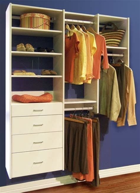 Closet With Drawers And Shelves Organize To Go White Reach In Closet Organizer With