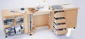 Foldable Table Mobilier Pour Couture Sewing Furniture Quilting
