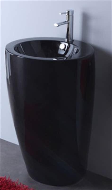 lavabo totem noir changer lavabo salle de bain achat vasque 224 poser