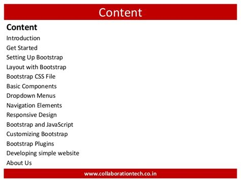 bootstrap layout slide introduction to bootstrap