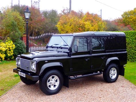 used land rover defender used santorini black land rover defender for sale essex
