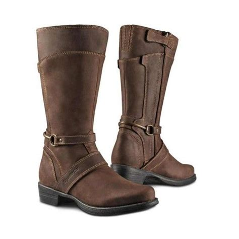 womens brown motorcycle stylmartin megan womens motorcycle boots dark brown