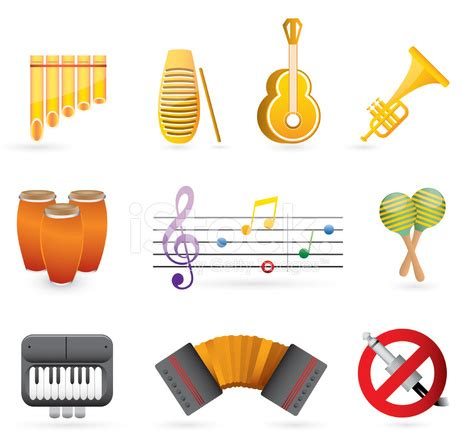 colorful latin music icon set stock vector freeimages.com
