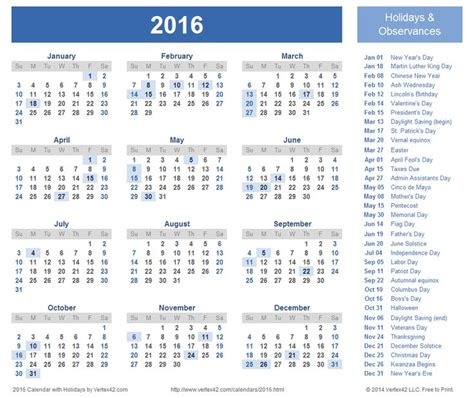 free printable 2016 holiday planner download a free printable 2016 holiday calendar from