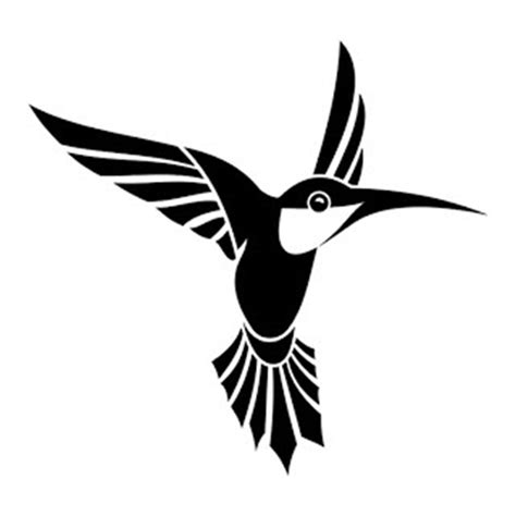 humming bird die cut vinyl decal pv726