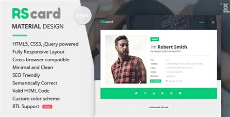 divergent personal vcard resume html template free material cv resume vcard multipurpose themes