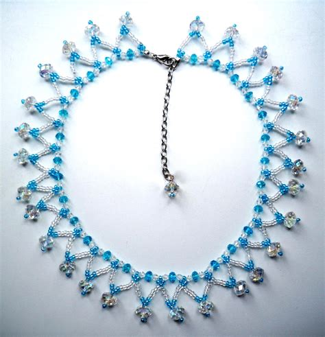 bead design seed bead necklace patterns for beginners beautyful jewelry