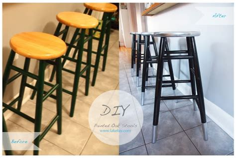 how to paint a bar stool lake luv paint diy metallic dipped bar stools