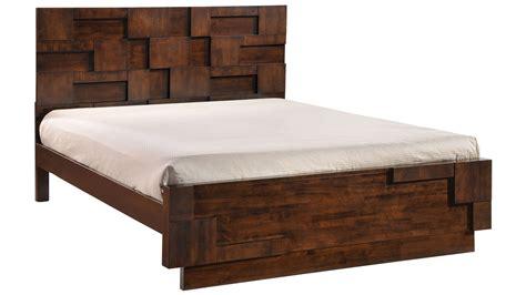 Rubberwood Bedroom Furniture Gila Rubberwood Bed Walnut Zuri Furniture