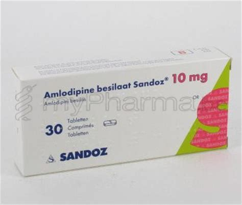 Olandoz 10mg pharmacie europhar 1470 genappe substances actives a amlodipine amlodipine besilaat
