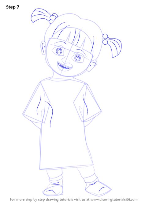 tutorial menggambar monster inc learn how to draw boo from monsters inc monsters inc