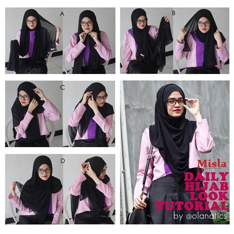 tutorial pashmina lilit leher tutorial daily hijab look ola aswandi