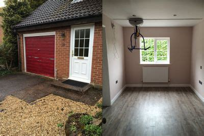 garage conversion to bedroom and shower transforming lives with a total refurbishment build and